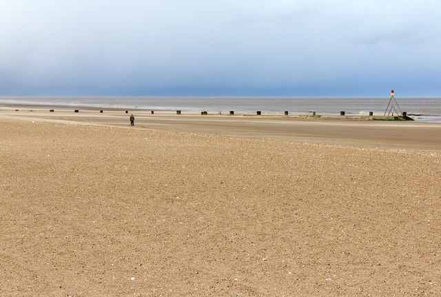 Sewer outfall, Mablethorpe beach