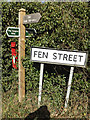 TM0478 : Signs on Fen Street by Adrian Cable