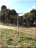TM0378 : Roadsign on Hinderclay Road by Adrian Cable