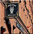 J3373 : Tattoo studio signs, Belfast (March 2015) by Albert Bridge