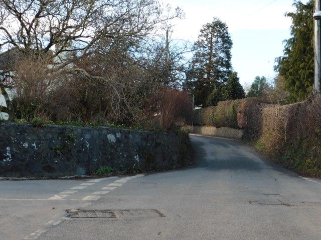 Cross roads at Hele Cross, Ashburton