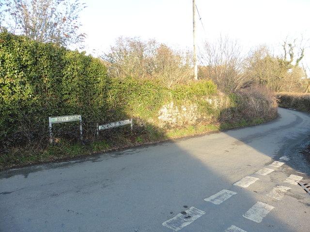 Junction at Rewdown Cross, near Ashburton