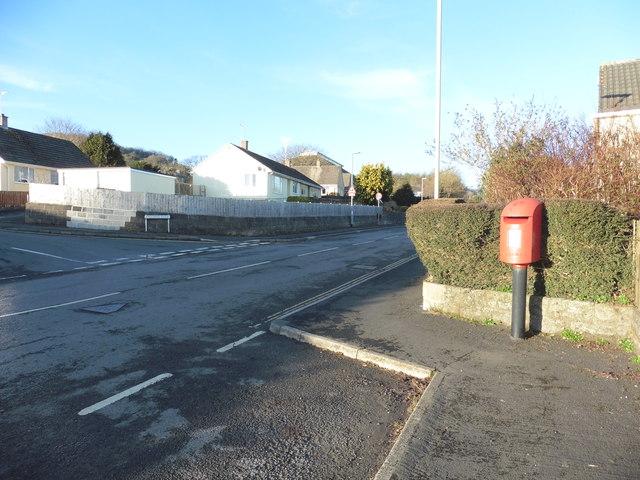 Letter box on Balland Lane, Ashburton