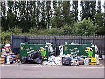 TF1020 : Paper recycling banks at Bourne, Lincolnshire by Rex Needle
