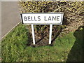 TM0276 : Bells Lane sign by Adrian Cable