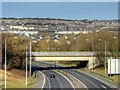 SD8332 : Whittlefield Bridge Aqueduct over the M65 by David Dixon