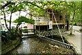 SZ1692 : The River Avon millstream flows under Place Mill by Steve Daniels