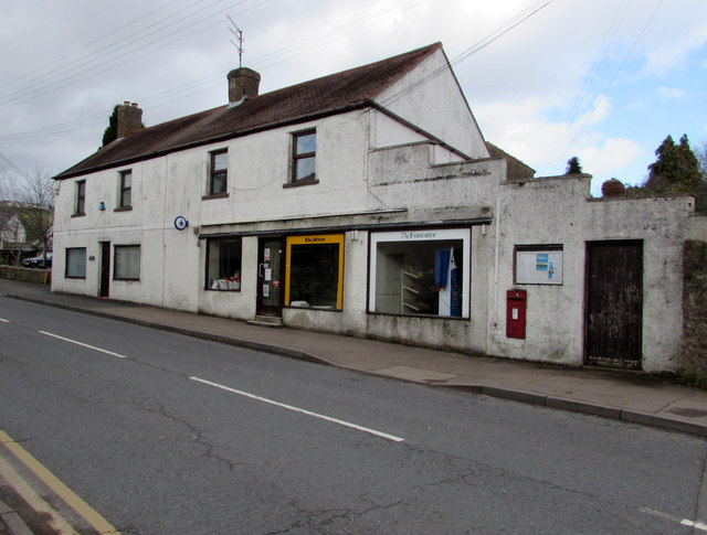 Derelict former shop and post office in Littledean
