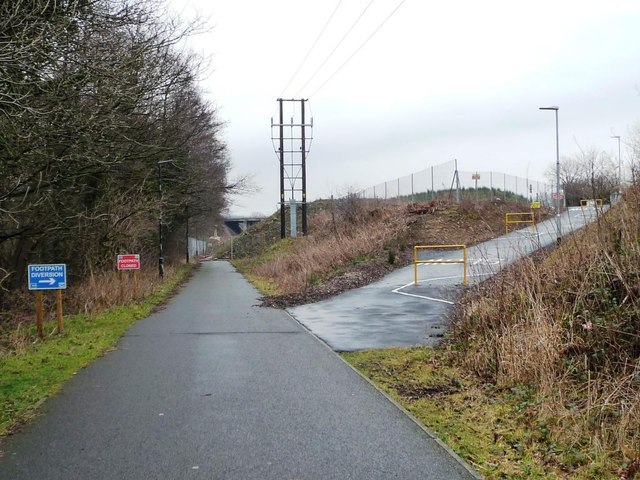 Temporary diversion on the Lune Valley Ramble