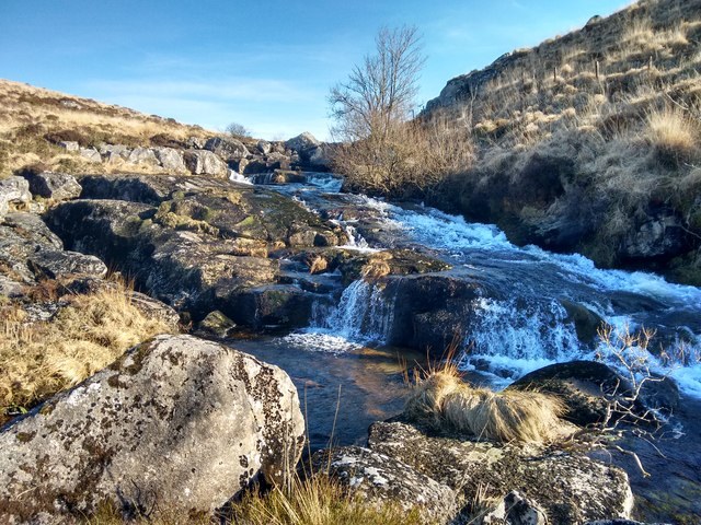 Waterfalls on North Teign river