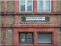 TQ3179 : Road Sign, Blackfriars Road, London SE1 by Christine Matthews
