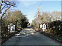 TM1340 : Belstead speed restriction signs on entering the village by Adrian S Pye