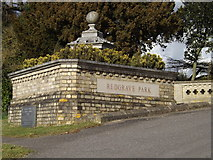 TM0576 : Redgrave Park sign by Adrian Cable