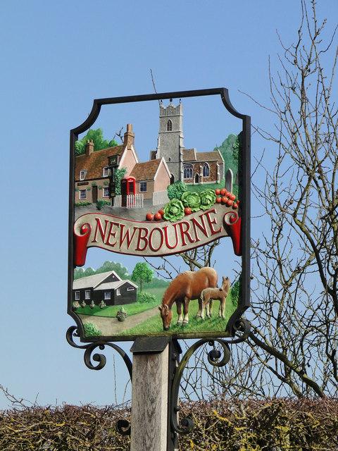 Newbourne village sign (detail)