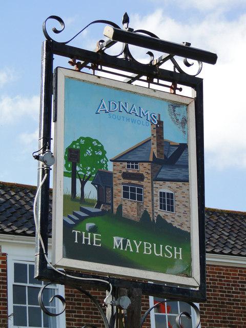The Maybush pub sign