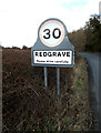 TM0577 : Redgrave Village Name sign by Adrian Cable