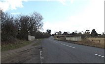 TM0576 : Bridge on the B1113 Hall Lane by Adrian Cable