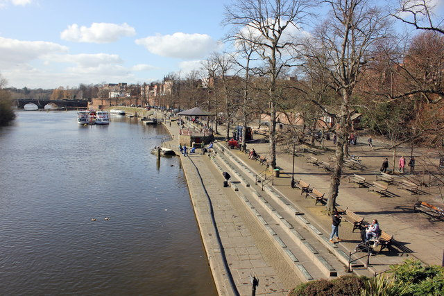 The River Dee and Groves at Chester