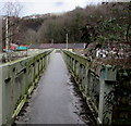 ST0889 : Taff Trail footbridge over the A470, Pontypridd by Jaggery