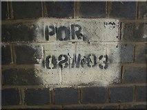 SS8178 : Railway bridge identifier, Moor Lane, Nottage by eswales