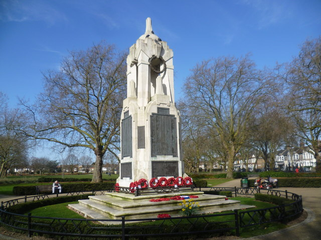 East Ham War Memorial in Central Park
