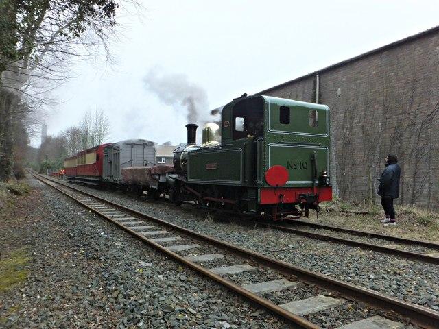 G.H.Wood heading a mixed train