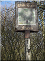 TM0776 : Oak Tree Farm sign by Adrian Cable