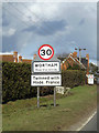 TM0776 : Wortham Village Name sign by Adrian Cable