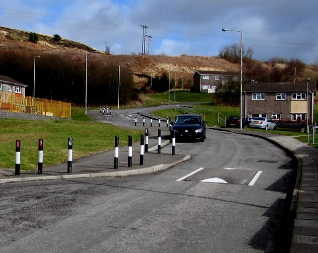 Traffic calming in the Blaencaerau Estate, Caerau