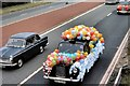 SJ5697 : Decorated Taxi, East Lancashire Road by David Dixon
