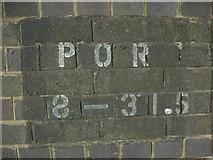 SS8178 : Railway bridge identifier, Moor Lane, Nottage (2) by eswales