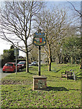 TM1469 : Thorndon village sign outside the church by Adrian S Pye