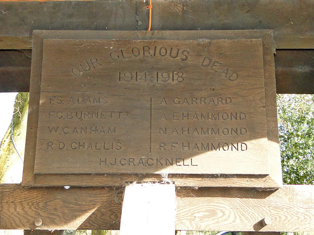 WW1 memorial in the lych gate