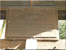 TM1469 : WW1 memorial in the lych gate by Adrian S Pye