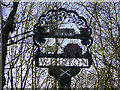 TM1861 : Winston village sign (detail) by Adrian S Pye