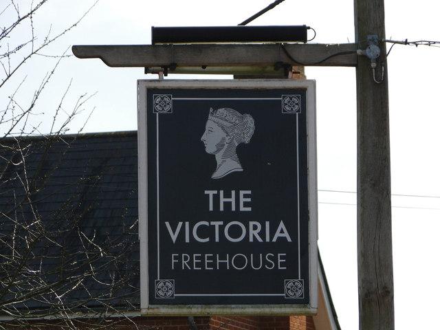 The Victoria public house, pub sign
