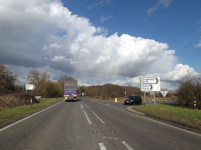 A140 at Warren Hills, Scole by Geographer
