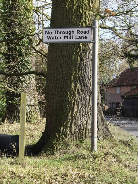 Roadsign on the B1118 Green Street