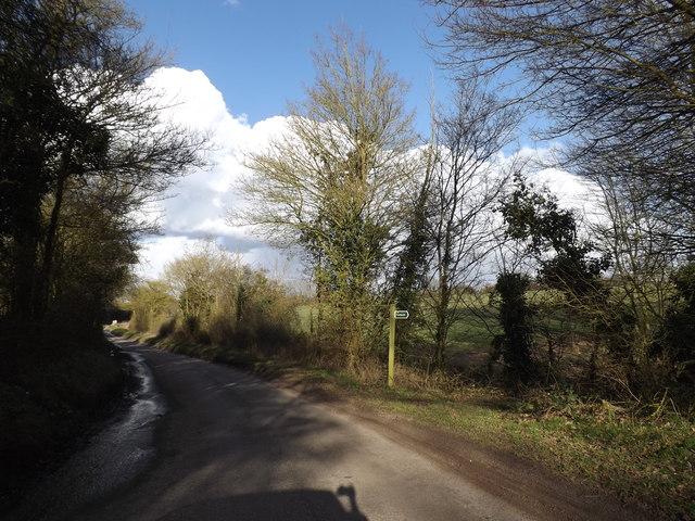 Syleham Road & footpath