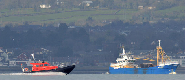 New pilot boat, Belfast Lough (March 2015)