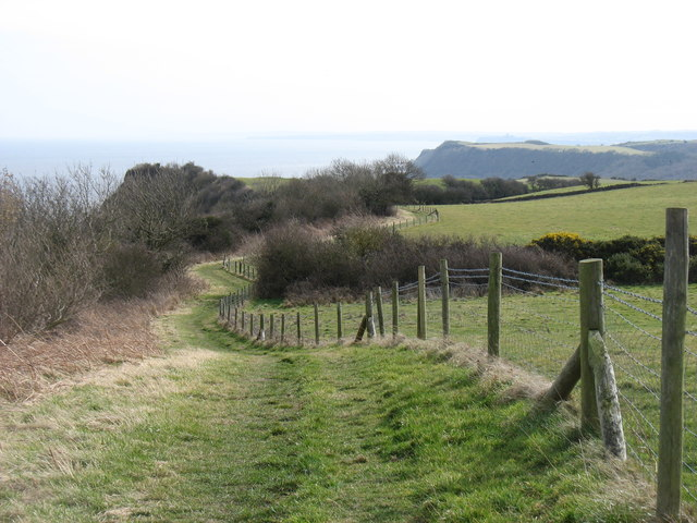 The Cleveland Way heading for Scarborough