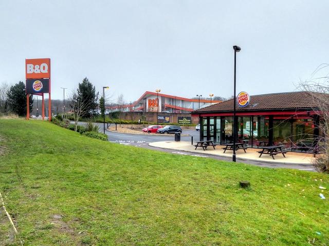 Bridge Hall Trading Estate, Burger King and B&Q