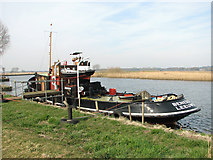 """TG3504 : The """"Liberté"""" on the River Yare by Evelyn Simak"""