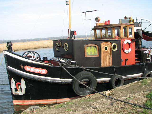 Dutch tug moored on the River Yare