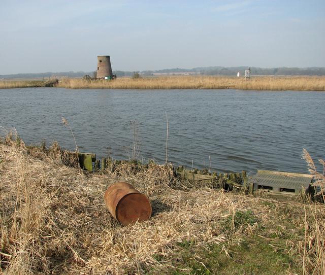 View towards Buckenham Ferry drainage windpump