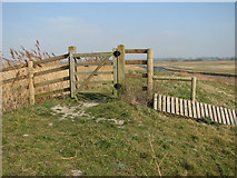 TG3504 : Gate on the floodbank by Evelyn Simak