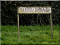 TM2972 : Mill Road sign by Geographer
