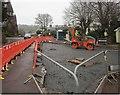 SX9063 : Roadworks, Chelston by Derek Harper