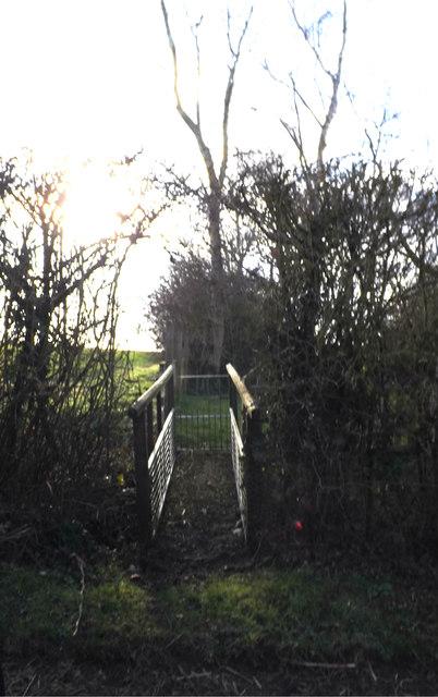 Footbridge into Rookery Farm