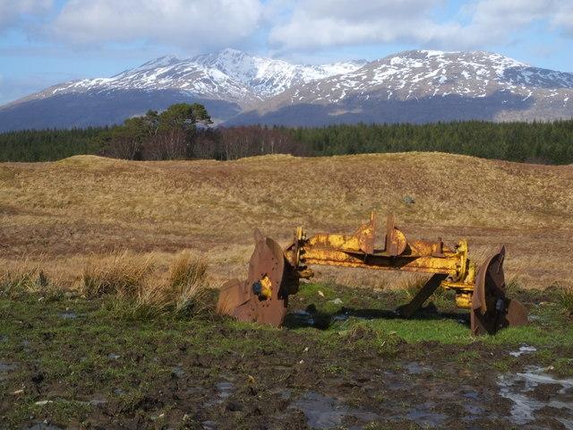 Farm equipment near Accurrach